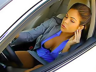 Babe Car Cute Upskirt