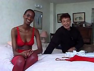 Ebony Interracial Lingerie  Stockings