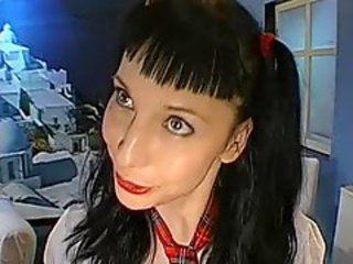 Brunette Bukkake Pigtail Student Swallow Uniform