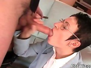 Blowjob Glasses  Secretary