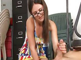 Glasses Handjob Teen