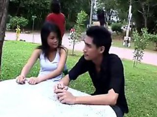 Asian Girlfriend Outdoor Public Thai