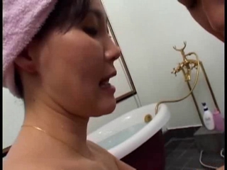 Bathroom Mature Mom Old and Young