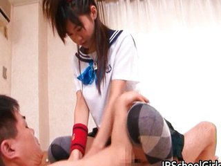 Asian Clothed Japanese Riding Student Teen Uniform