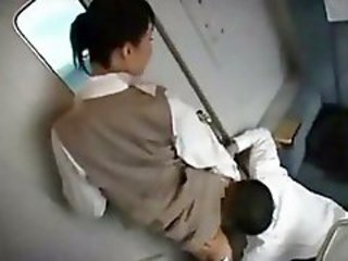 Asian Clothed Licking Public