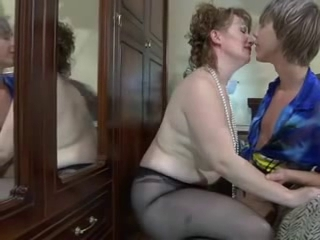 Mature Mom Old and Young Pantyhose