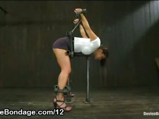 Bound Bent Over Babe Ass Flogged And Clothes Stripped Off