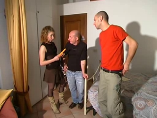Amateur European Italian  Threesome