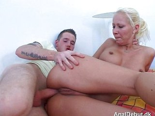 Anal Blonde First Time Girlfriend Pain