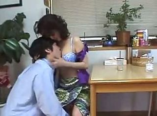 Asian MILF Gets A Hairy Creampie