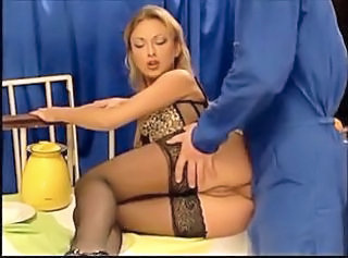 Anal Babe European German Stockings