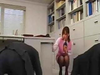 Asian Babe Japanese Office Secretary Uniform