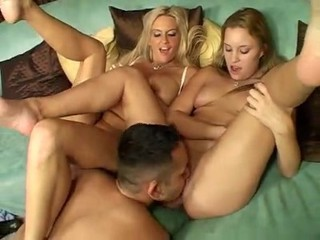 Licking  Mom Old and Young Teen Threesome