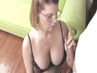 Big Tits Glasses Handjob  Natural