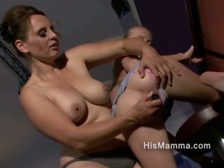 Mature Lesbian Explores Her Own Offsprings Girlfriends Pussy