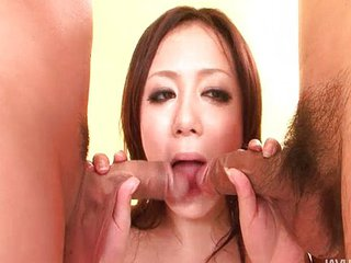 Asian Blowjob Small cock Teen Threesome