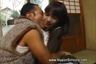 Asian Daddy Daughter Japanese Kissing Old and Young Teen