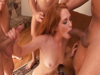 Cute Redhead Gets Huge Facial