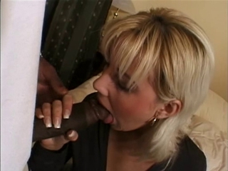 Sexy Blonde Surprised By Big Black Cock