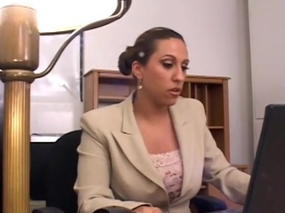 Allesandra Gets Made Love Each Morning Inside The Office