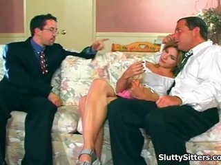 Hot Babysitter Sucks 2  Lucky Fellows