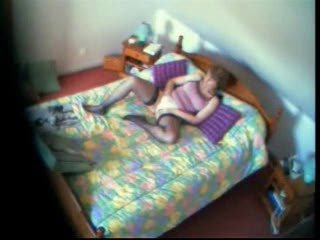 Mummy Masturbating While She Watch A Porno Magazine. Real Hidden Cam