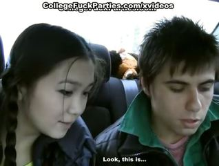 Amateur Asian Car Girlfriend Interracial Teen