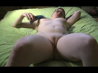 Amateur Chubby Dildo Glasses Homemade Masturbating Pussy Shaved Teen Toy