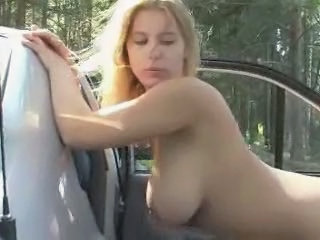 Amateur Anal Car Doggystyle Girlfriend Natural Outdoor