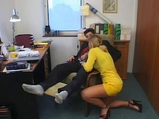 Babe Blowjob Clothed Office Secretary