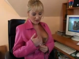 German Blond Busty Mature Anal Sex In Th...
