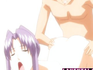 Big Titted Hentai Babe Rides Cock