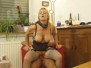 Busty Mature Blonde Bitch Gets Her Pussy...