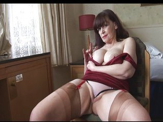 Big Tits Mature Panty Play And Stripteas...