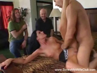 Brunette Wife Is A Swinger And Will Suck...