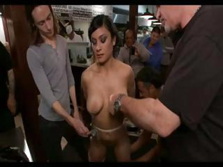 Busty Brunette Is Tied Up And Abused And...
