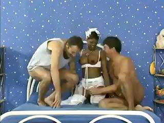 Ebony Bride Gets The Groom And Another H...