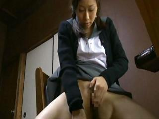Asian Japanese Masturbating Student Teen Uniform