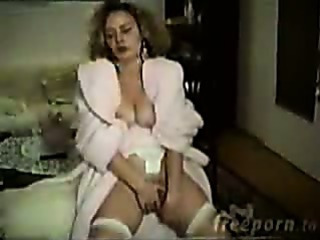 Masturbating  Solo Vintage Wife