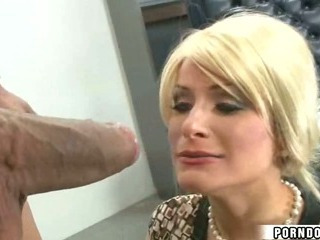 Blonde Girl Fucks Huge Cock