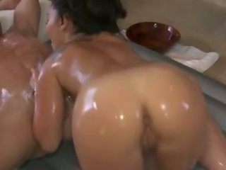 Asian Ass Handjob Interracial Massage Oiled