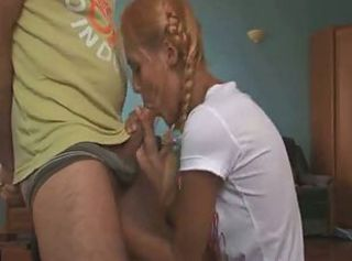 Blowjob Old and Young Pigtail Teen