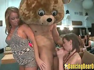 Babe gets a Huge Facial from a Stripper