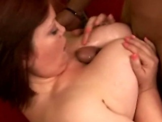 Big Tits Interracial  Natural Redhead Tits job