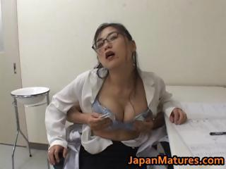 Asian Doctor Glasses Japanese  Natural Uniform