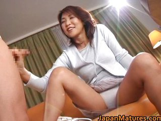 Asian Handjob Japanese Mature Panty