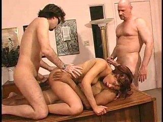 Gangbang Of Black Bitch On A Table