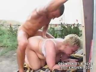 Big-tittied granny that used to be hot some time ago, demands anal sex