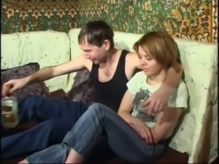 Russian father and his shy daughter free