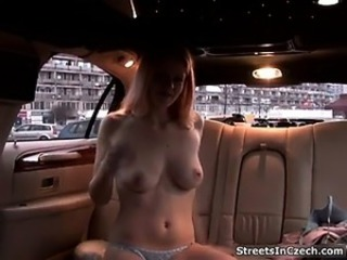 Amateur Car European Public Teen